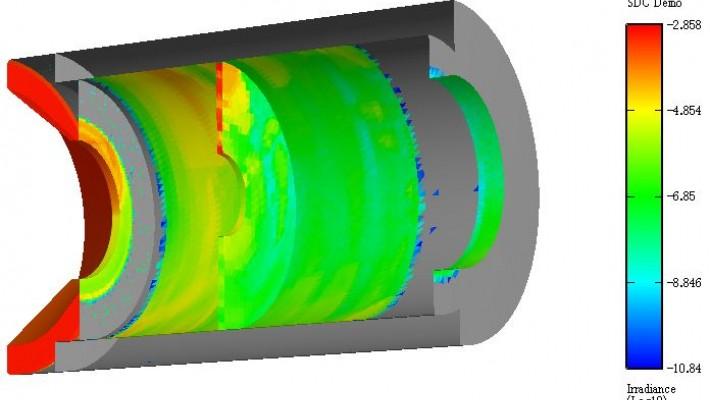 任意の形状に対しての放射照度表示が可能